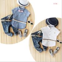 wholesale  2015 new arrival summer boy suit Children suit boy clothes casual clothes star jean pant  J100
