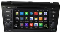 Free Shipping+HD1024*600 Android 4.4+Car DVD For Mazda 3 2004-2009+Capacitive Screen+3g WiFi+GPS+Stereo+Radio+CAN BUS+Audio+OBD2