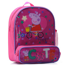 2015 peppa pig backpack children school bag peppa pig bag(China (Mainland))