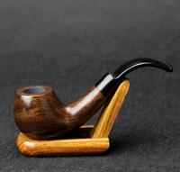 10 Tools Gift Set 14cm Smoking Pipe Bent Type Ebony Wood Smoking Pipe 9mm Filter Smoking Pipe Set FT-839