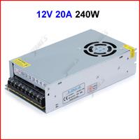 ( 20 pcs/lot ) DC12V 20A 240W Switching Power Supply Transformer For 5630 5050 3528 LED Strip Light CCTV Camera Wholesale