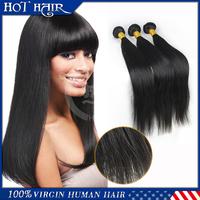 Factory price 5A unprocessed Brazilian virgin hair straight,Wholesale natural color brazilian hair extensions,3pcs,