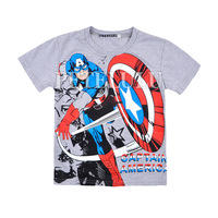 wholesale boy summer tees baby Captain America clothing kids short sleeve t-shirts size suit for 2-10 years old chiildren