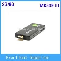 Mini PC MK809 III Quad Core RK3188 android tv box stick 2GB RAM 8GB ROM 1.8GHz Max bluetooth wifi Mk809III Android 4.4.2
