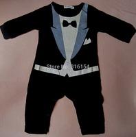 1Pc Baby Boy Tuxedo Gentleman Cotton Romper Playsuit Suit Clothes Outfit 6-24M