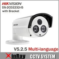 Newest Hikvision V5.2.0 DS-2CD2232-I5 3MP  Bullet IP Camera with Bracket IR LED Full HD 1080P POE Power Network  IP CCTV Camera