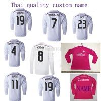 Real Madrid jersey 14 15 home long sleeve football shirt JAMES RONALDO BALE SERGIO RAMOS KROOS 14 15 away pink long sleeve