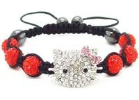 classic trendy new jewelry sets wholesale DHL/EMS Free Shipping  micro pave cz Disco Beads Crystal Women Men Shamballa Bracelet