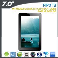 7 inch Original PIPO T3 3G Phone Call Tablet PC IPS1280x 600 MTK8382 Quad Core 1.3Ghz 1GB 8GB Dual Camera 500MP GPS BT WIFI