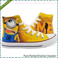 Cartoon Anime Figure Women Despicable Me Shoes Minion Shoes Women And Men Canvas High Tops Sneakers Women Shoes Minions Shoe