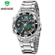 Ejército WEIDE militar relojes para hombre de cuarzo reloj deportivo marca de lujo analógico pantalla Digital famosos 3ATM Waterproofed envío gratis