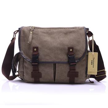 Canvas Bag Men's Сплошной cover Молния Повседневный Плечи school bags men crossbody ...