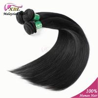 "100% Unprocessed Malaysian Virgin Straight Hair Extension Natural Color Virgin Human Hair Weave bundles 8"" to 24"" 3 pcs/lot"