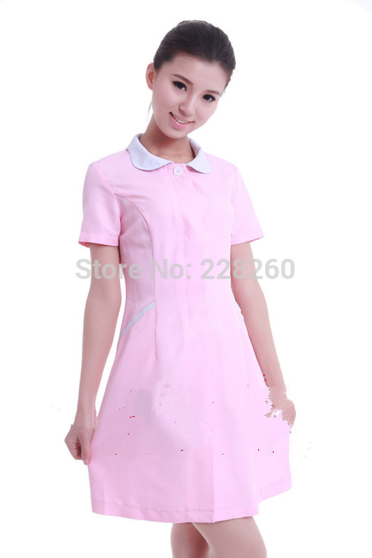 Authentic nurses take summer wear short-sleeved pharmacy dental oral smock white beauty(China (Mainland))
