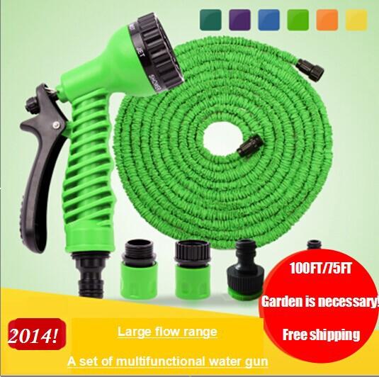 Schlüssel 2014 Garten! Hochdruckschlauch Bewässerung des Gartens Schlauch und Düse + Paket multi- Funktion anschluss 75 Füße