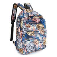 students School bag children school backpack Women printing backpack canvas travel bag  Fashion printing backpacks B007