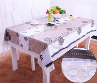 YIDUO 2015 ziyoufeihua with flower plastic European garden table cover table cloth cloth PVC oil