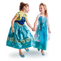 1PCS,real picture,Frozen Dress Elsa Dress For Girl Princess Dresses kids summer Girl Dress Children girls' Clothing free