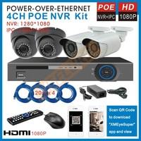 4channel 1080p POE NVR kit with 4pcs 2.0MP security ip Camera 1080p POE NVR Kit Video Surveillance system HDMI 1080P NVR