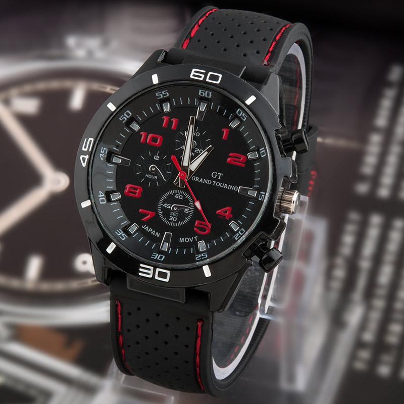 2015 новый свободного покроя кварцевые часы мужчины военные часы GT спорт наручные часы прямая поставка силиконовые часы мода часов