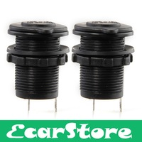 2pcs Waterproof Motorcycle Car Cigarette Lighter Socket Plug Power Outlet