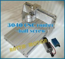2015 venda de madeira torno Cnc Router máquina nova 3040 máquina Cnc Router Milling mecânica Kit parafuso da esfera com 300 w para Dc Spindle(China (Mainland))