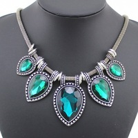 2015 New Fashion Vintage Necklace Colar Jewelry For women Statement Necklace Luxury Collares Choker Necklaces  With Crystal Gem