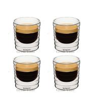 Set of 4 double wall hand-blown glass Nespresso Citiz glass Espresso capsule Thermo Glass 150ml free shipping