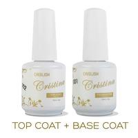 2PCS/LOT Cristina Professional Soak Off Gel Nail Polish Nail Art Top Coat Base Coat Set Uv Gel Varnish Nail Tools Top and Primer