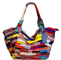 Hot Women Handbags Designer genuine leather weave bag Tassel flowers rivetzipper travel sheepskin splice Shoulder Messenger Bags