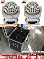 Flightcase 2IN1+2pcs/lot 36pcs*10W Zoom Led Moving Head Light White Case Wash Light DMX 512 15DMX Channels Led Moving Head Wash