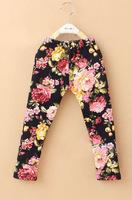 girls pants warm winter pants flower printed fashion girl legging boot pants for girls