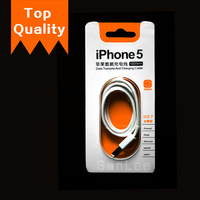 Top quality Mobile Phone Cable 8pin to USB Charger Cable Data Sync Charge Cabo Cord For iphone 5 5S 5C