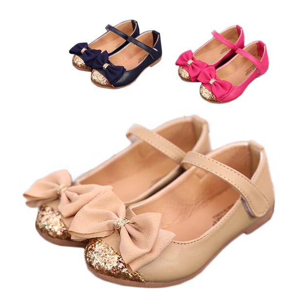 2015 summer new children's sandals children single shoes kids child shoes for girls princess bowtie sandals(China (Mainland))