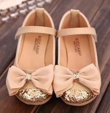 2015 summer new children s sandals children single shoes kids child shoes for girls princess bowtie