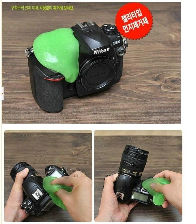 Magic universal clean glue magic glue magic glue slr camera clean glue microfiber sponge Free shipping(China (Mainland))