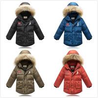 2014 brand children's down jacket outerwear warm coat kids boy winter jacket for boy children winter jacket free shipping
