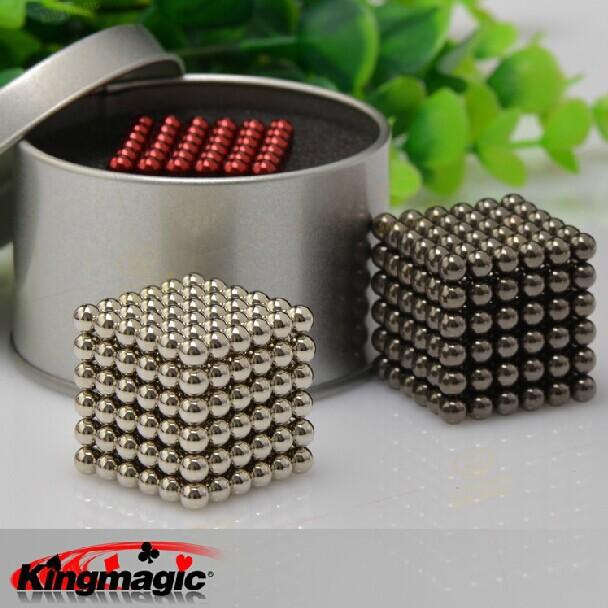 216pcs/set 6x6x6 Buckyballs Neocube 5mm Neo Cube Magic Cube Puzzle Magnet Magnetic Balls Education Toy +metal Box+bag+card(China (Mainland))