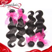 Grade 6A Peruvian Virgin Hair Body Wave 3PCS Lot Cheap Peruvian Human Hair Extension Free Shipping xuchang longqi hair LQPBW010