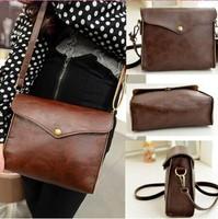 New 2014 Women leather Handbag ladies vintage messenger bags women shoulder High Quality Fashion Totes Shoulder bags Stamp purse