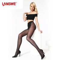LANSWE 2014 New Sexy Bikini Tights Brand 20D Full Foot Pantyhose Hose Silk  Women Stockings Hip Lifting Body Sculpting Tights