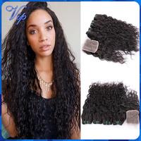 Brazilian Virgin Hair with Closure 4pcs Brazillian Lace Closure With Hair Bundles Ms Lula Brazilian Wet And Wavy KBL Human Hair