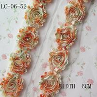 "Shabby Chiffon Flower ,2.5"" 8Yards Headband Flower Accessories ,Frayed Flower Trim"