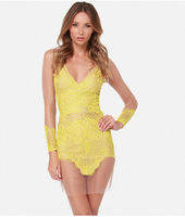 2014 for love and lemons dresses BLACK AND YELLOW S/M/L