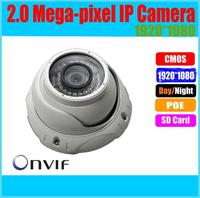 Onvif 1280*720P HD 2.0MP Mini Dome IP Camera,IR Night Vision ip cam,P2P Plug Play CCTV Security camara,Free Phone view