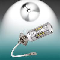 2pcs H3 led car lights Xenon White 80W Cree XBD-R3 Lens High Power LED Car Fog Light Daytime Running Bulb  12V 24V   parking