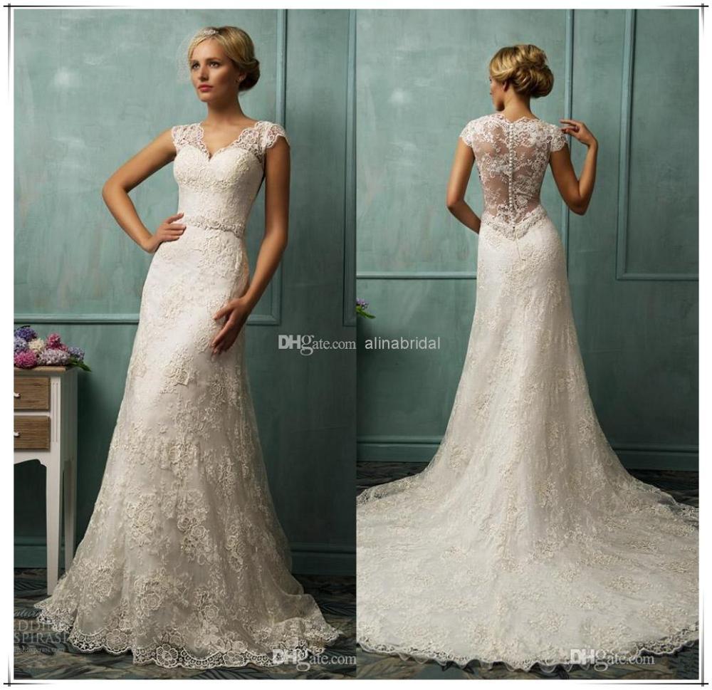 vintage robes de mariée sirène longue robe blanche de mariée en ...