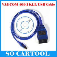 KKL VAG-COM 409.1 OBD 2 II USB Diagnostic Cable Auto Scan Scanner Tool Interface Free Shipping