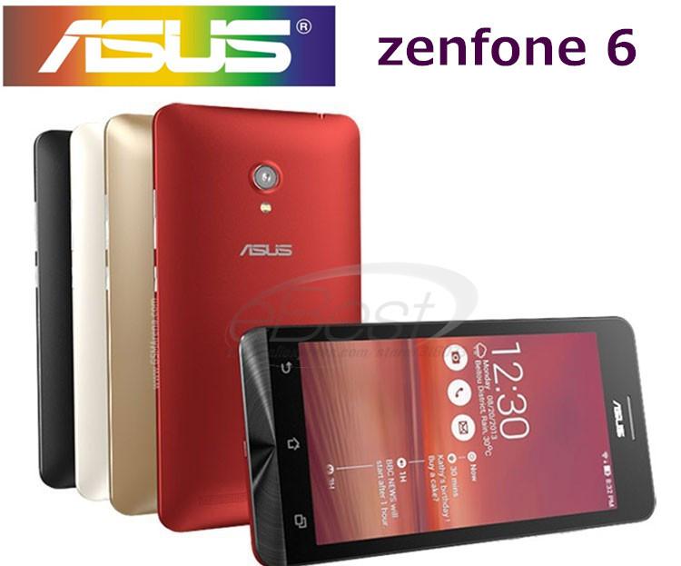 Nuovo originale zenfone 6 smart phone 6 pollici 2gb 16gb ram rom androide 4,3 intel atom z2580 13mp fotocamera dual sim del telefono mobile
