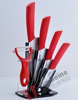 kitchen  knives Ceramic knife set for  6 PCS  with 3 inch+4 inch+5 inch+6 inch+peeler +Knife holder